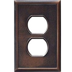 Weybridge, 1 Gang 1 Duplex Outlet Screwless Wall Plate - Oil Rubbed Bronze, SWP401-70 - Home Depot - master bath, bedroom