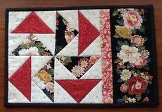 PUZZLE mug rug, snack mat, candle mat - via @Craftsy