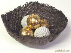 Make an Easy Decorative Bowl With Burlap! | Hometalk