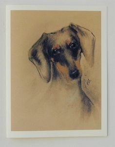 Doxie Dachshund Dog Art Note Cards By Cori Solomon