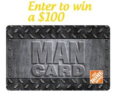{Father's Day Giveaway} $100 Home Depot Gift Card