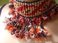 Wood beads and needle lace by aysetugrul