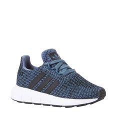 adidas originals Swift Run I sneakers kids, Blauw/wit/zwart