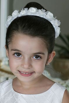 TT_428 - Head wreath Crown in Choice of Color - Headpieces - Flower Girl Dress For Less