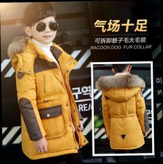 41.99$  Buy now - http://ali6oy.worldwells.pw/go.php?t=32753302646 - Children Winter Long Down Jacket Cuhk Boy Casual White Goose Down Coat Winter Kids Hooded Thickening Uniform Jackets Clothing