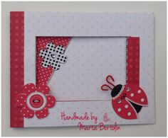 All occasion card, patterned paper, ladybug sticker with rhinestones. Happy Birthday Cards, Ladybug, Rhinestones, Stickers, Paper, Frame, Handmade, Home Decor, Happy Birthday Greeting Cards