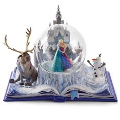 "Disney Frozen Wonders Within ""An Act of True Love"" Musical Water Globe Book Snowglobe"