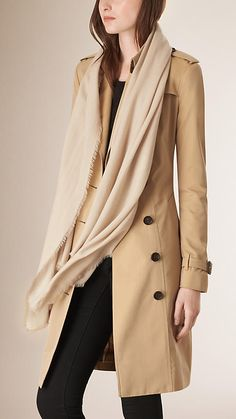 The Lightweight Cashmere Scarf from Burberry is made at a Scottish mill established in 1866. Monogram yours at Burberry.com
