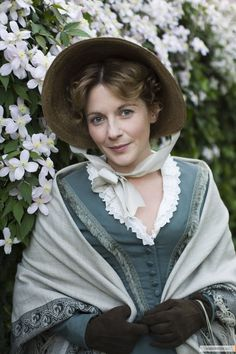 Lovely use of trim on this one. Also like her hair. Mary Smith from the movie Cranford.