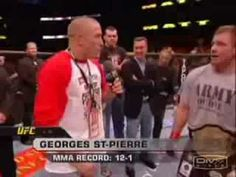 """Georges St Pierre is not impressed by Matt Hughes.the quote that started the ever-popular """"I am not impressed"""" GSP meme Ufc George St Pierre, Mma, Quotes, Popular, Baby, Quotations, Popular Pins, Baby Humor, Infant"""
