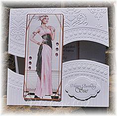 Debbie Moore, Art Deco Cards, Embossed Cards, Die Cut Cards, Art Deco Design, Masculine Cards, Embossing Folder, Homemade Cards, Poppies