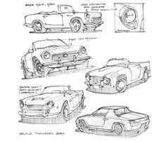 Así es como un-Sketch feliz de diseño industrial Tiendas para un coche de la vendimia - Core77