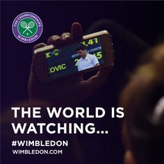 It's nearly time for the trophy presentation. Wimbledon 2015