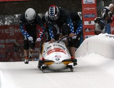 Bobsled, Competition, Team, Pushing