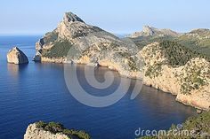 Photo about Cap de Formentor in Mallorca island, Spain. Image of blue, destination, extreme - 25857442 Mallorca Island, Form, Spain, Stock Photos, Water, Blue, Travel, Outdoor, Image