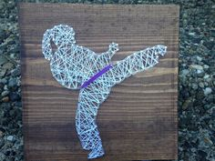 MADE TO ORDER- Karate Girl String Art