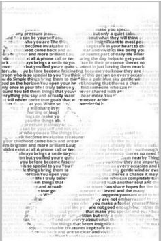 Get the lyrics of your wedding song framed