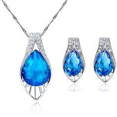 Juego de joyas azules de Julia