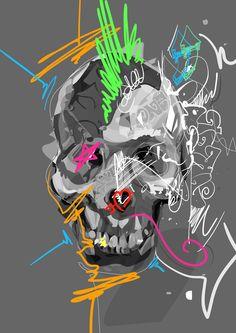 All About Art Tattoo Studio Rangiora. Quality work by Professional Artist. Crane, Skeleton Art, Skulls And Roses, Skull Face, Hirst, Vanitas, Punk, Retro Art, Werewolf