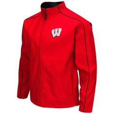 Wisconsin Badgers Colosseum Big & Tall Carrier Full-Zip Jacket - Red - $59.49