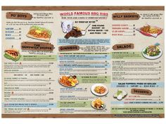 Pineapple Willy's Menus -- Panama City Beach, Florida