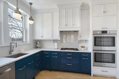 dual toned cabinets with colour!