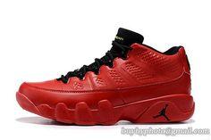 6149a9670a8 Mens Air Jordan AJ9 Low IX (9) Retro Basketball Shoes Low Red Black