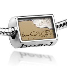 "Beads ""Love, love, beach"" - Pandora Charm Bracelet Compatible"