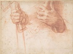 Studies of Hands Attributed to Andrea del Sarto (Andrea d'Agnolo) 1486-1530.