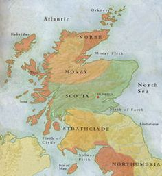 Scotland during the reign of King Kenneth MacAlpin [834 - 858].