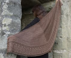 Celtic Myths Fingering ~ knitted shawl / wrap, free pattern download | by Asita Krebs via Ravelry