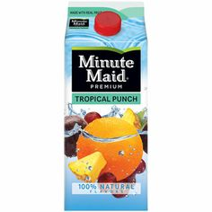 I'm learning all about Minute Maid Premium Tropical Punch at @Influenster!