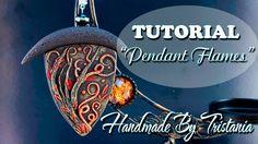 """В этом мастер-классе я покажу вам процесс создания вот такого Кулона """"Пламя"""" из полимерной глины своими руками! Polymer clay tutorial: Pendant Flames. Я ре..."""