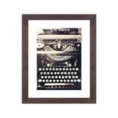 This Vintage Typewriter Art Print is printed with advanced archival inks to create a striking image. Hang it up in your office or study to keep you on-task, or maybe even to inspire your next brilliant...  Find the Vintage Typewriter Art Print, as seen in the Industrial Impressions Collection at http://dotandbo.com/collections/industrial-impressions?utm_source=pinterest&utm_medium=organic&db_sku=SO60113