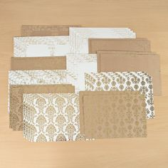 Kanban Botanical Foiled Card 8 1/4 x 11 3/4 Assortment - 36 Sheets (144267) | Create and Craft