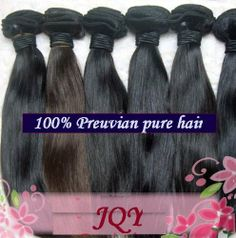 """AAAA Grade 100% Peruvian Remy Human Hair Weft Real Virgin Peruvian Hair Extensions Silk Straight 16"""" 18"""" 2 Bundles 200 Grams Unprocessed Black 1B by JQY. $179.95. 1)100% brand new and high quality  Product: 100% Virgin Remy peruvian hair. (no clips on it )  2)Versatility: Can be Pressed, Dyed or Curled  3)Color:  natural black  4)Texture: Body Wave  5)Quality: Premimum Peruvian  6)Weight: 100g per bundle (about 3.5oz)  7)Available length: 12'', 14'', 16'', 18'', 20'' , 22'', 2..."""