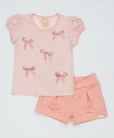 Conjunto Kids de 2 pçs Rosa Outfits Niños, Cute Girl Outfits, Kids Outfits Girls, Baby Girl Dresses, Baby Girl Fashion, Toddler Fashion, Kids Fashion, Boys And Girls Clothes, Baby Kids Clothes