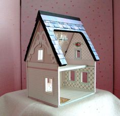 Dollhouse Miniature A Printable Paper Dollhouse in Quarter