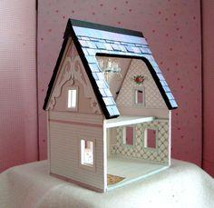 Maison de poupée Miniature-A papier imprimable Dollhouse en trimestre échelle téléchargement immédiat