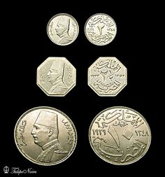 King Fouad's 2, 2.5 & 10 Silver-Milliemes.