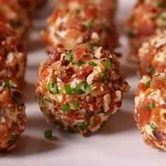 Cheese Ball Bites recipes by delish Cheese Ball Bites Recipe, Delicious Cheese Ball Recipe, Cheese Ball Recipes, Balls Recipe, Appetizers For Party, Appetizer Recipes, Christmas Appetizers, Finger Snacks, Guacamole