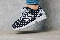 "WMNS adidas ZX Flux ""Polka Dots"" (Black/White)"