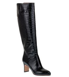 Maison Margiela Embossed Leather Knee-High Boots sale cheap 8GHuri30
