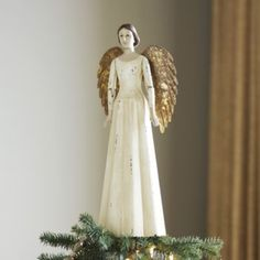 the only Angel Tree Topper i've seen that i would love to have....| Ballard Designs