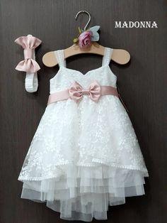 Madonna-gamosvaptisi - Home Baby Girl Dresses, Flower Girl Dresses, Summer Girls, Christening, Madonna, Kids Fashion, Wedding Dresses, Vestidos, Little Girl Clothing
