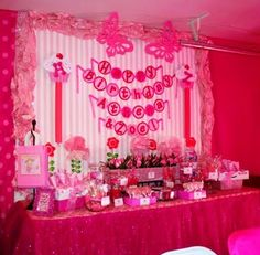 What started my love for dessert and candy buffet...Pinkalicious dessert bar for my girls!