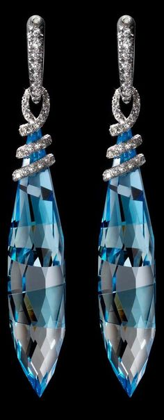 {Daily Jewel} Blue Gemstone Earrings of Holy Gorgeous by Mattia Cielo
