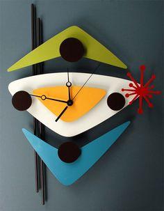 Cardboard + color paper + clock machine..   If you wanna make it #retrohomedecor