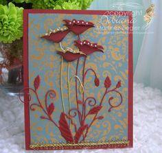 CAS poppy card | par Bibianas Cards-r-recherche google
