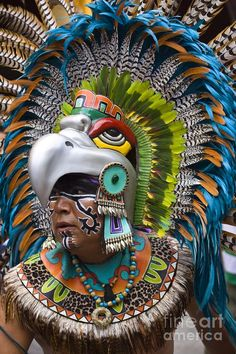 Mexican Aztec Art | … - Mexico Photograph - Aztec Eagle Dancer - Mexico Fine Art Print by Craig Lovell